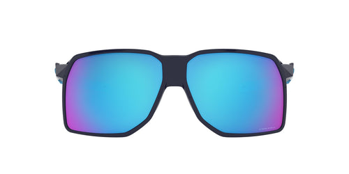 Oakley - Portal Navy/Prizm Sapphire Rectangle Men Sunglasses - 62mm