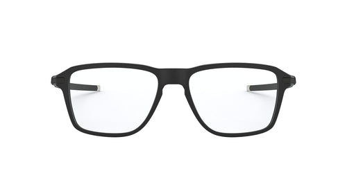 Oakley - Wheel House Satin Black/Clear Square Men Eyeglasses - 52mm