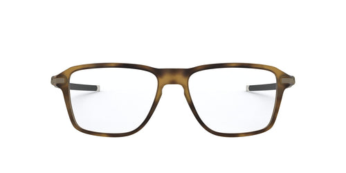 Oakley - Wheel House Satin Brown Tortoise/Clear Square Men Eyeglasses - 54mm