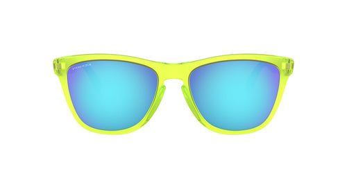 Oakley - Frogskins Mix Matte Uranium/Prizm Sapphire Polarized Cat Eye Unisex Sunglasses - 55mm