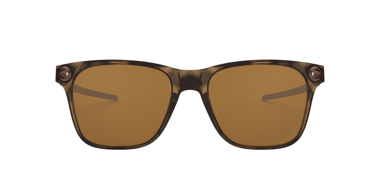 Oakley - Apparition Brown Tortoise/Tungsten Iridium Square Men Polarized Sunglasses - 55mm