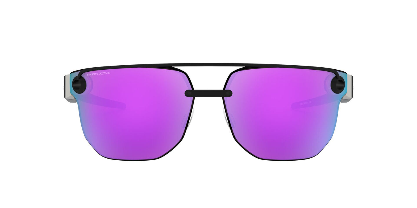 Oakley - Chrystl Matte Black/Prizm Violet Square Men Sunglasses - 67mm