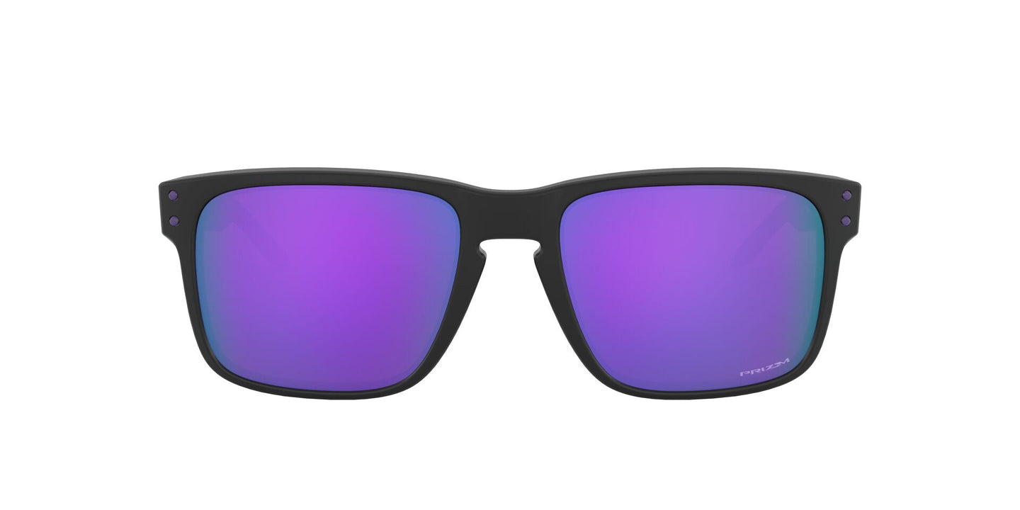 Oakley - HolBrook (A) Matte Black/Prizm Violet Rectangle Men Sunglasses - 56mm
