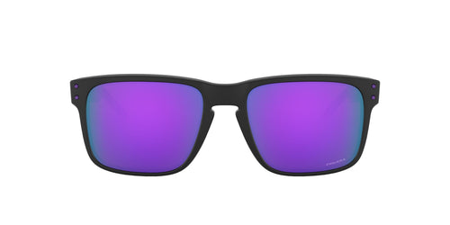 Oakley - Holbrook Matte Black/Prizm Violet Square Men Sunglasses - 55mm