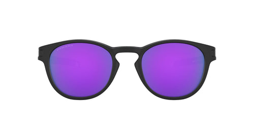 Oakley - Latch Matte Black/Prizm Violet Oval Men Sunglasses - 53mm