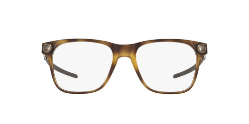 Oakley - Apparition Satin Brown Tortoise/Clear Square Men Eyeglasses - 55mm