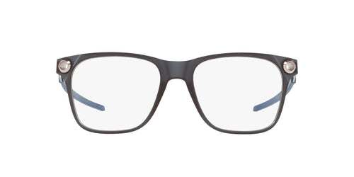 Oakley - Apparition Satin Grey Smoke/Clear Square Men Eyeglasses - 53mm