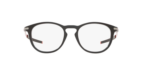 Oakley - Pitchman R Black Ink/Clear Round Men Eyeglasses - 50mm