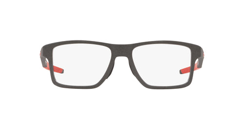Oakley - Chamfer Squared Satin Light Steel/Clear Square Men Eyeglasses - 54mm
