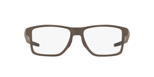 Oakley - Chamfer Squared Satin Lead/Clear Square Men Eyeglasses - 52mm
