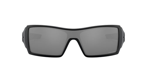 Oakley - Oil Rig Matte Black /Prizm Black Polarized Wrap Women Sunglasses - 50mm