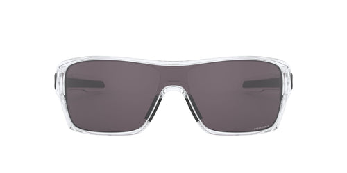 Oakley - Turbine Rotor Polished Clear/Prizm Grey Shield Men Sunglasses - 32mm