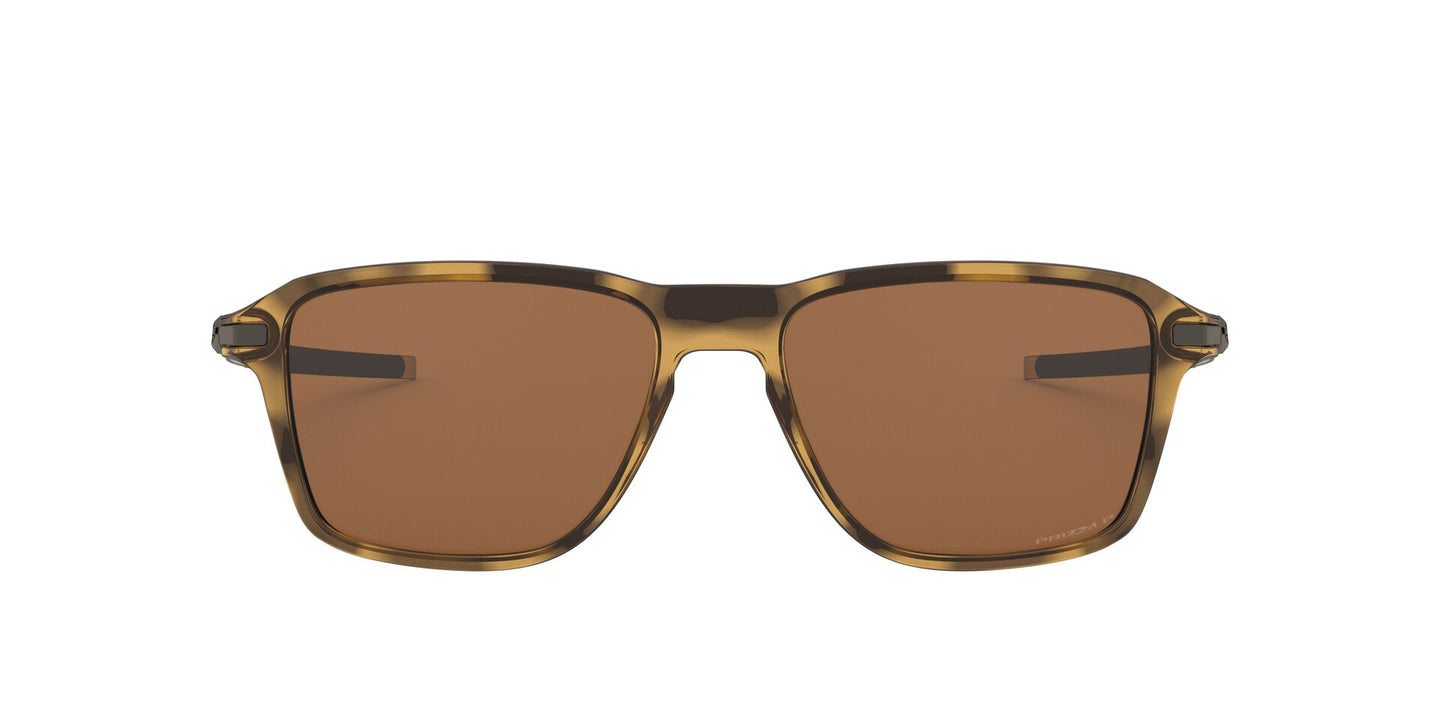 Oakley - Wheel House Polished Brown Tortoise/Prizm Tungsten Square Men Polarized Sunglasses - 54mm
