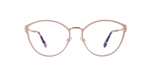 Tom Ford - FT5573-B Shiny Pink Cat Eye Women Eyeglasses - 55mm