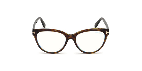 Tom Ford - FT5618-B Dark Havana Oval Women Eyeglasses - 54mm