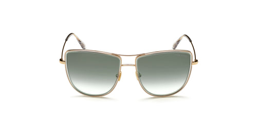 Tom Ford - FT0759 Shiny Rose Gold Aviator Women Sunglasses - 59mm