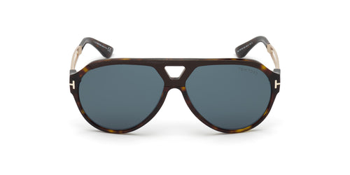 Tom Ford - FT0778 Dark Havana/Green Aviator Men Sunglasses - 60mm