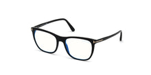 Tom Ford - FT5672-B Shiny Black/Clear Rectangular Women Eyeglasses - 54mm
