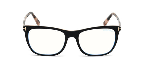 Tom Ford - FT5672-B Black/Clear Rectangular Women Eyeglasses - 54mm