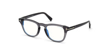 Tom Ford - FT5660-B Grey/Clear Round Men Eyeglasses - 49mm