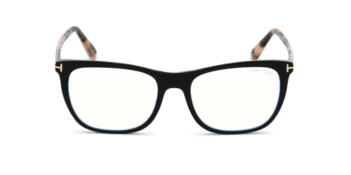 Tom Ford - FT5672-F-B Black/Clear Rectangular Women Eyeglasses - 54mm