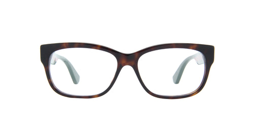 Gucci - GG0278O Havana/Transparent Rectangular Women Eyeglasses - 55mm