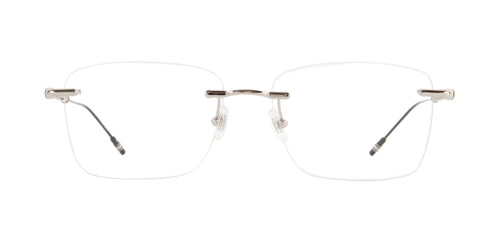 Mont Blanc - MB0038O Silver Rimless Men Eyeglasses - 57mm