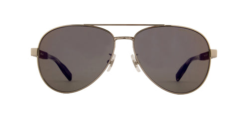 Montblanc - MB0032S Silver/Grey Aviator Men Sunglasses - 61mm