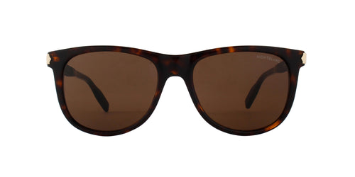 Montblanc - MB0031S Havana Black/Brown wayfarer Men Sunglasses - 55mm