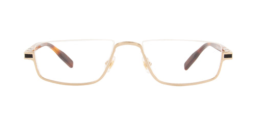 Montblanc - MB0044O Gold/Clear Rectangular Men Eyeglasses - 55mm