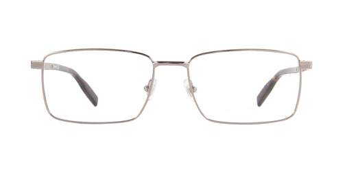 Montblanc - MB0022O Ruthenium/Clear Rectangular Men Eyeglasses - 57mm