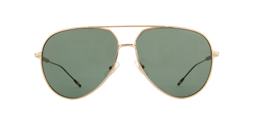 Montblanc - MB0045S Gold/Green Aviator Men Sunglasses - 61mm