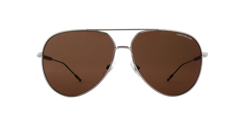Montblanc - MB0045S Ruthenium/Grey Aviator Men Sunglasses - 61mm