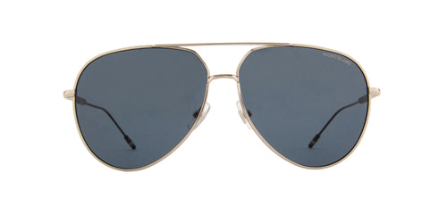Montblanc - MB0045S Silver/Blue Aviator Men Sunglasses - 61mm