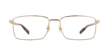 Mont Blanc - MB0022O Gold Rectangular Men Eyeglasses - 57mm