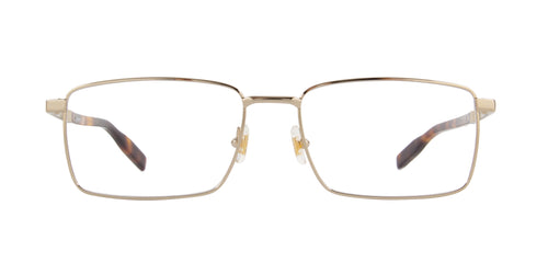 Montblanc - MB0022O Gold/Clear Rectangular Men Eyeglasses - 57mm