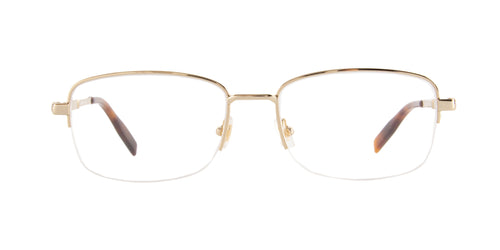 Montblanc - MB0028O Gold/Clear Semi Rimless Men Eyeglasses - 56mm