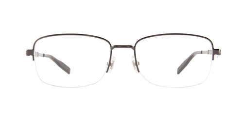 Montblanc - MB0028O Ruthenium/Clear Semi Rimless Men Eyeglasses - 56mm