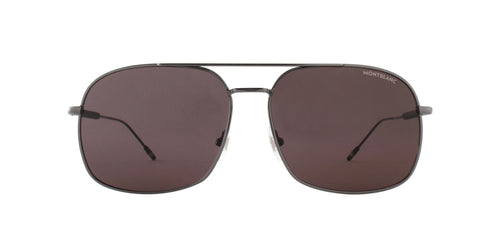 Montblanc - MB0046S Ruthenium/Grey Aviator Men Sunglasses - 61mm