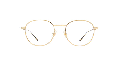 Montblanc - MB0048O Gold/Clear Round Men Eyeglasses - 51mm