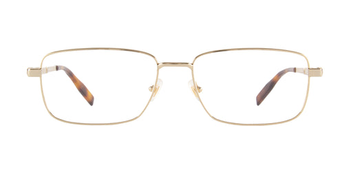 Montblanc - MB0029O Gold/Clear Rectangular Men Eyeglasses - 58mm