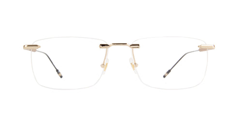 Montblanc - MB0049O Gold/Clear Rimless Men Eyeglasses - 58mm