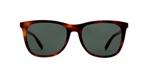 Mont Blanc - MB0017S Havana Square Men Sunglasses - 55mm