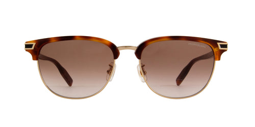 Mont Blanc - MB0040S Havana Oval Men Sunglasses - 56mm
