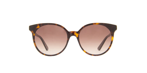 Gucci - GG0488S Havana Round Women Sunglasses - 54mm