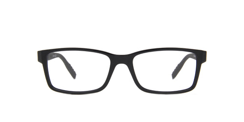 Montblanc - MB0066O Black/Clear Rectangular Men Eyeglasses - 56mm