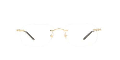 Mont Blanc - MB0071O Gold Rimless Men Eyeglasses - 56mm