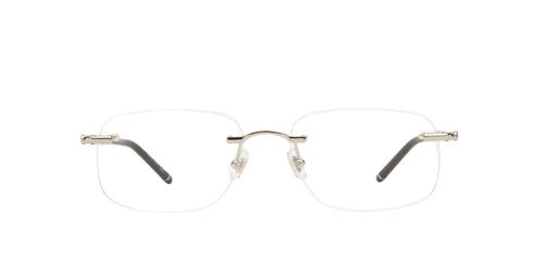 Mont Blanc - MB0071O Silver Rimless Men Eyeglasses - 56mm