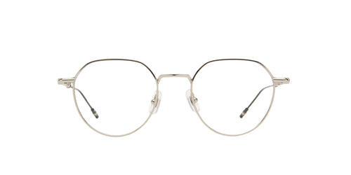 Montblanc - MB0060O Silver/Clear Panthos Men Eyeglasses - 50mm
