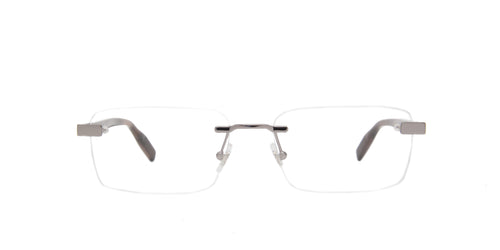 Mont Blanc - MB0055O Ruthenium/Clear Rimless Men Eyeglasses - 56mm